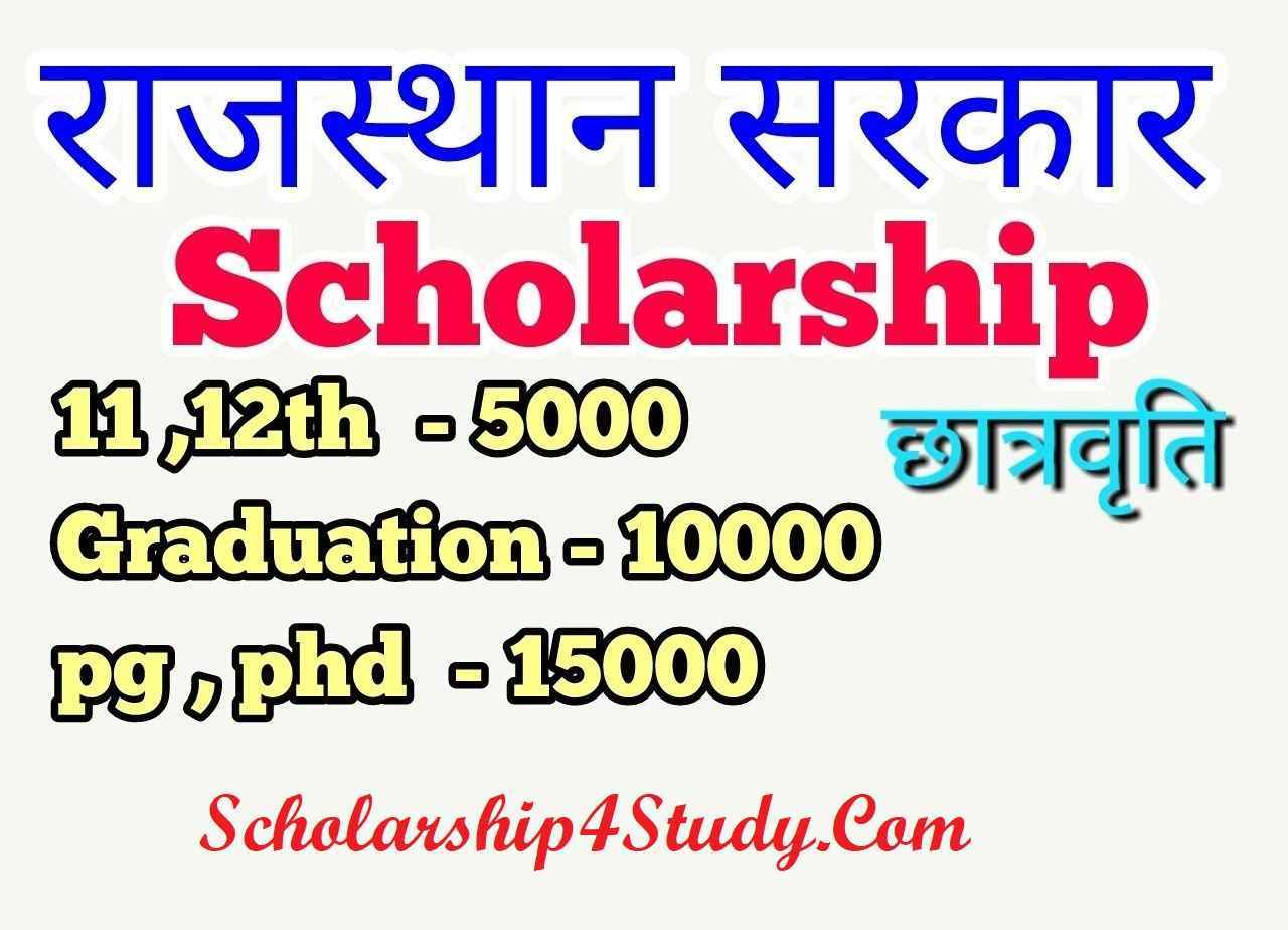 Rajasthan-Scholarship-2020 Application Form For Post Matric Scholarship To Sc St Obc Students on